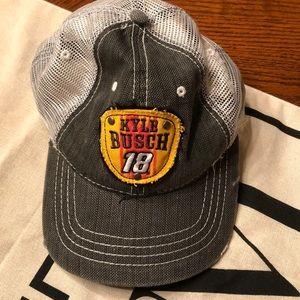 M&M Kyle Busch NASCAR Trucker Hat NWOT